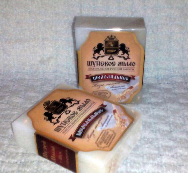 Молодильное Шуйское мыло Козье молоко с овсяными хлопьями